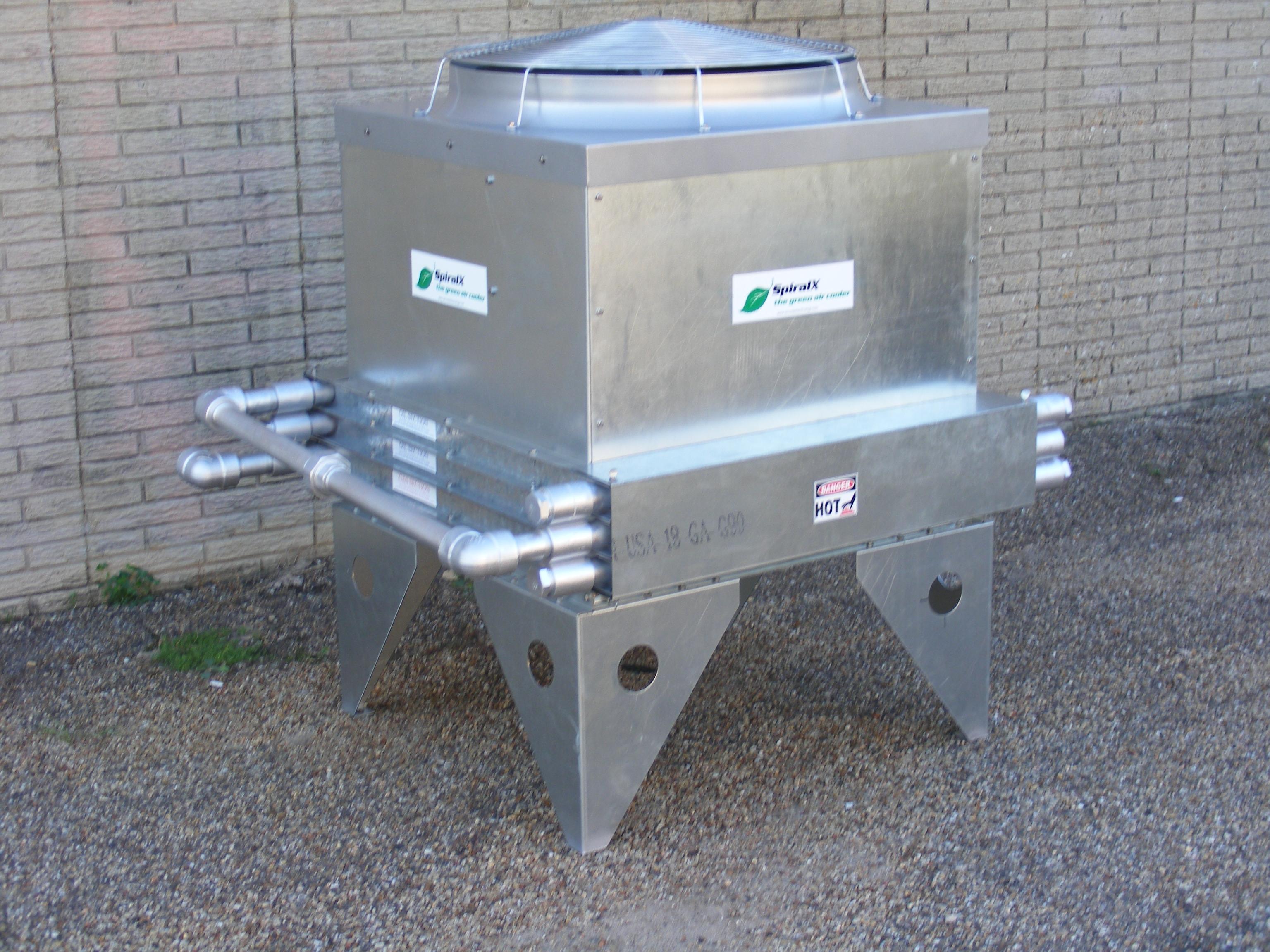 Exchanger Coil Cooler Screw Compressor Heat Exchangers Air Cooled  #456286